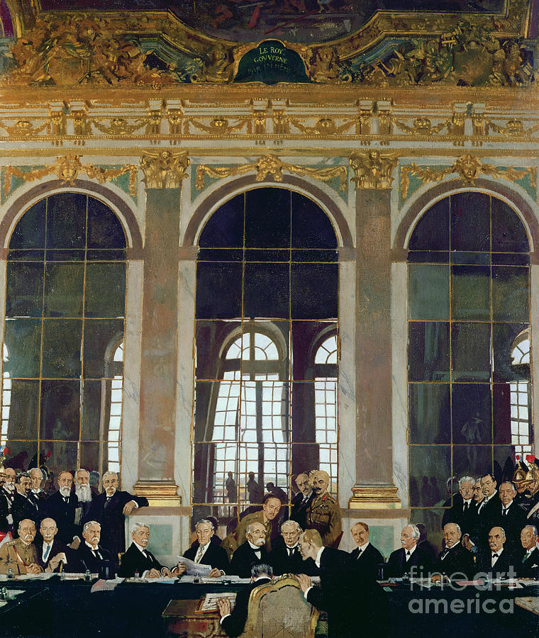 The Treaty Of Versailles Painting - The Treaty Of Versailles by Sir William Orpen