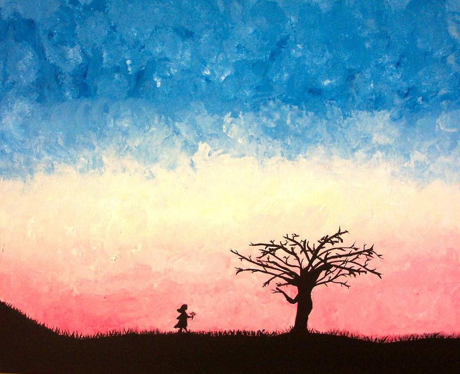 Child Painting - The Tree by Jennifer Hernandez