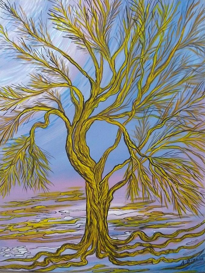Tree Painting - The Tree Of Depretion  by Anna Dionia