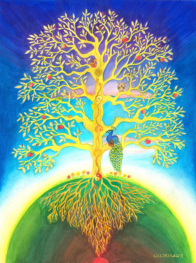 Tree Of Life Painting - The Tree Of Life  by Gloria Di Simone