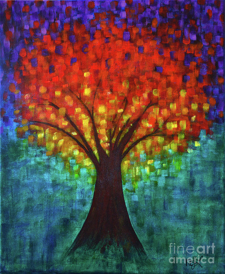 Tree Of Life Painting - The Tree of Life by Nadine Larder
