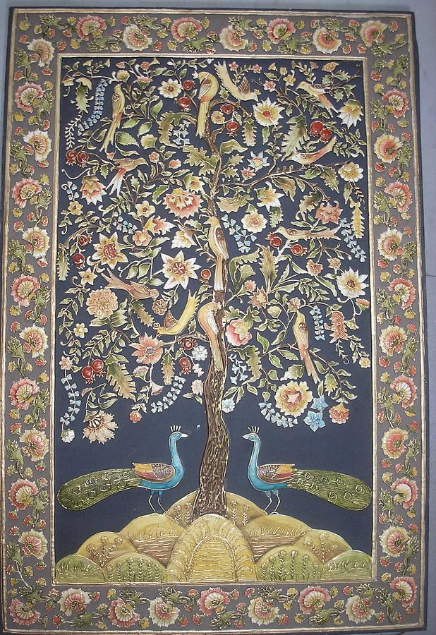 Oil Painting Relief - The Tree Of Life by Prity Jain