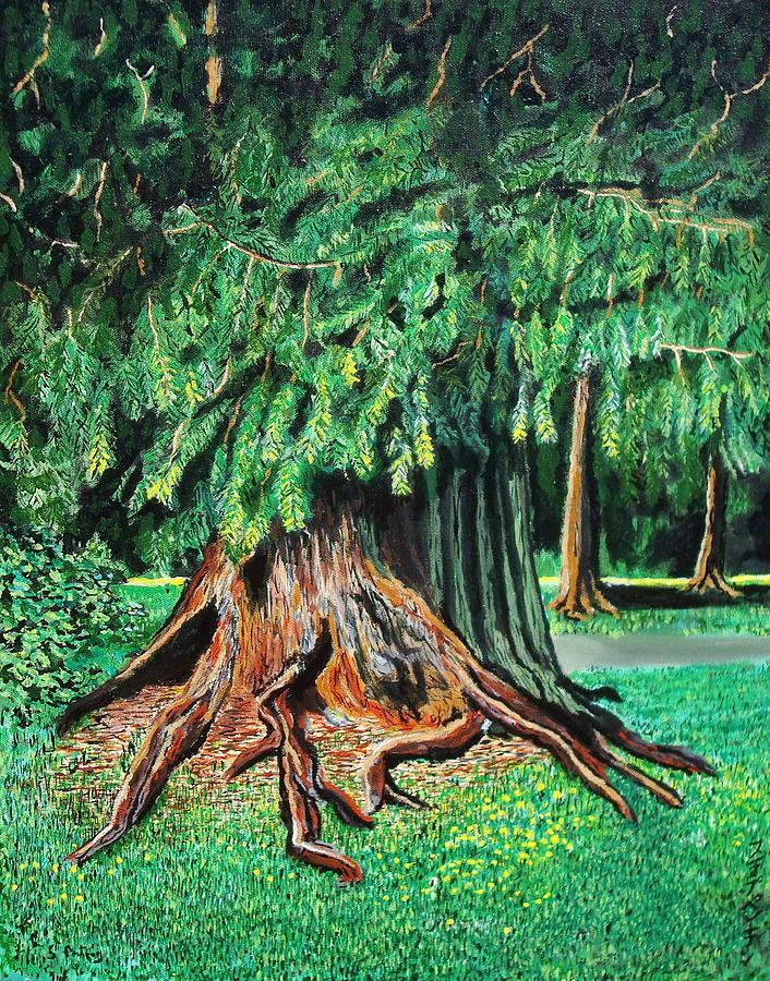 Tree Painting - The Tree by Stephen Ponting