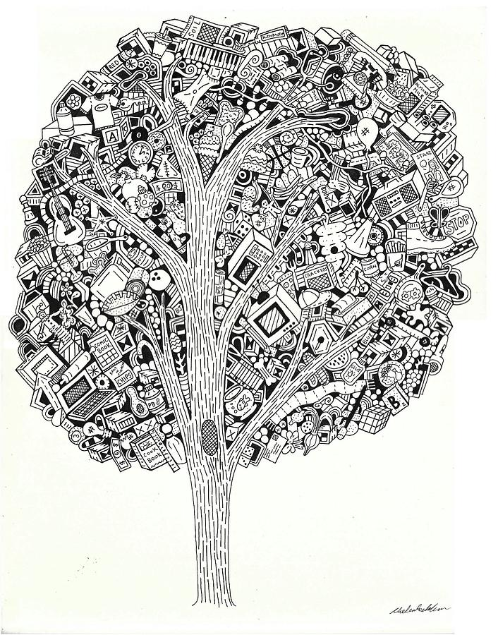 Random Drawing - The Tree That Never Fails by Chelsea Geldean