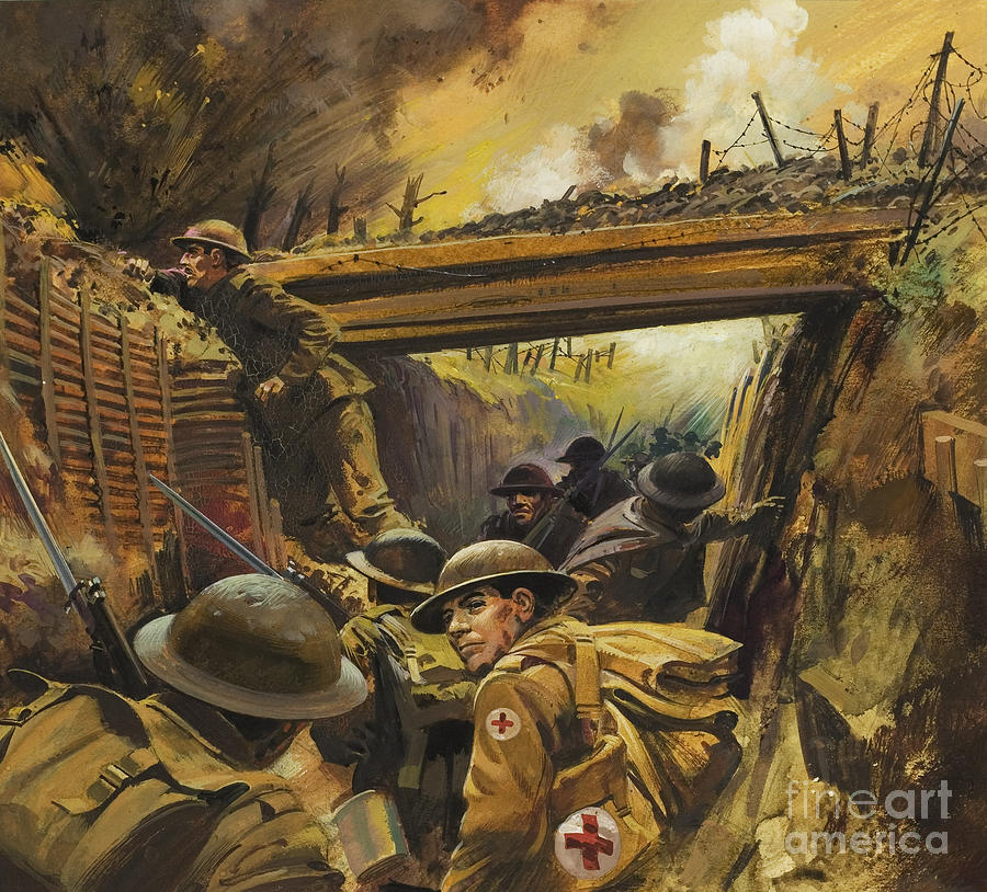 Soldier Painting - The Trenches by Andrew Howat