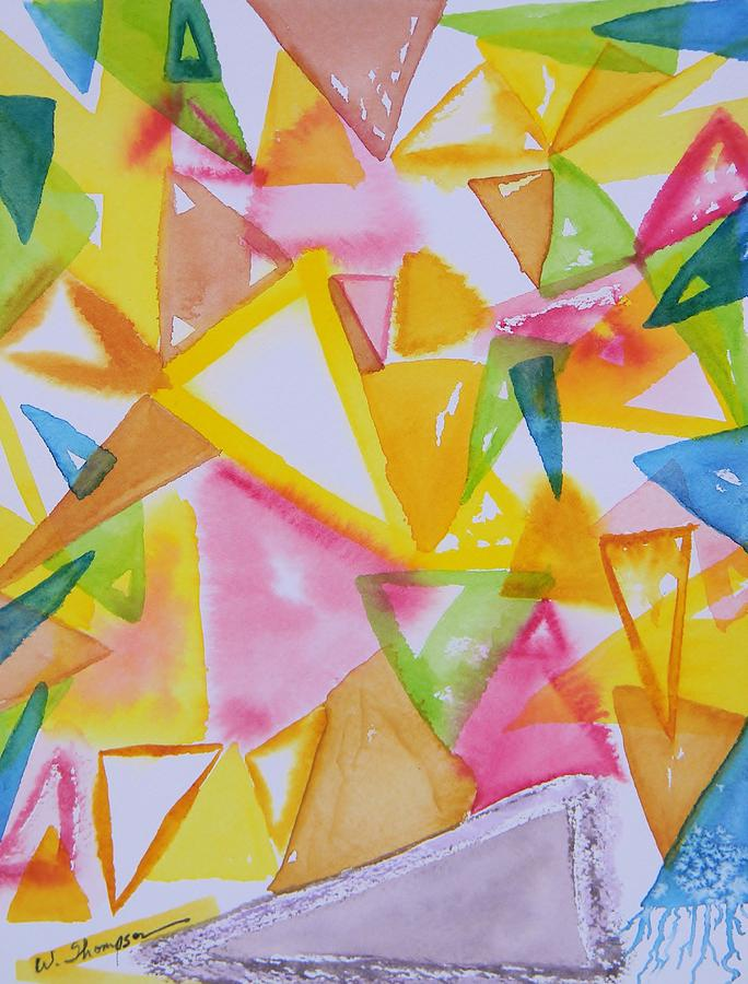 The Triangle Experimentation Painting