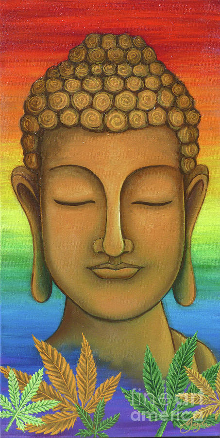 Buddha Painting - The Trifecta by Gayle Utter