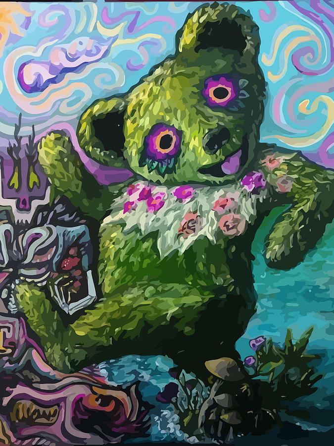 Grateful Dead Digital Art - The Tripy Bear by The Bear