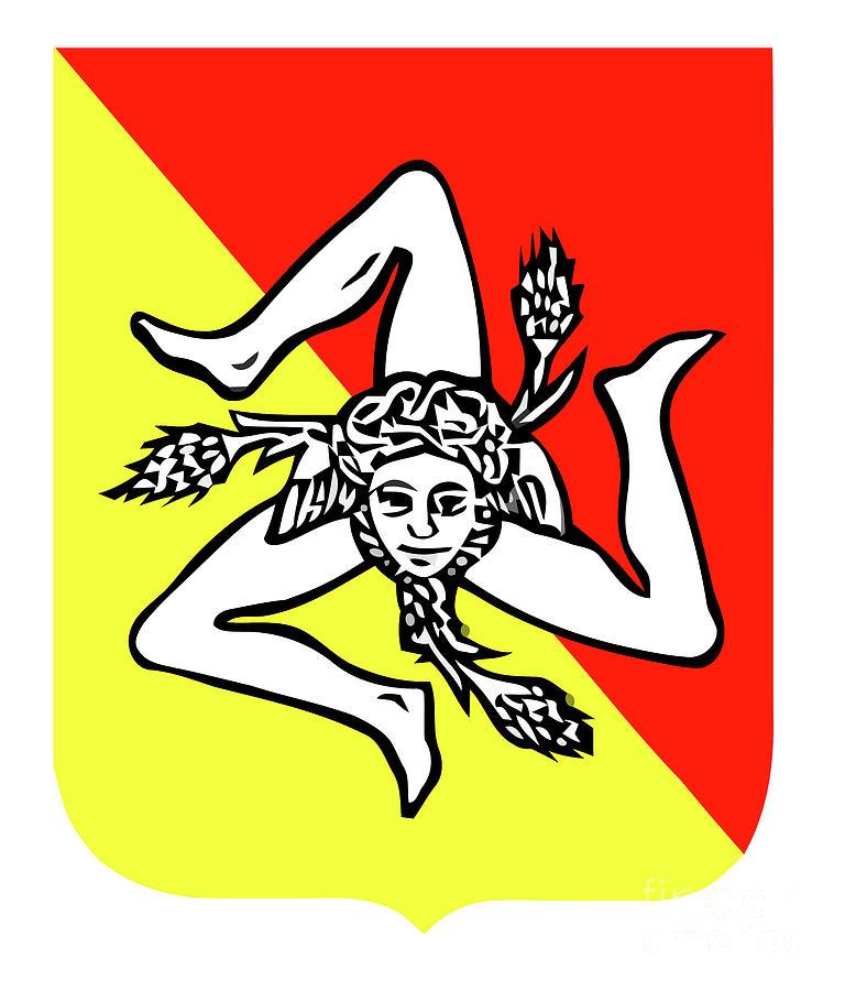 The Triscele Symbol Of Sicily Digital Art By Antonio Gravante