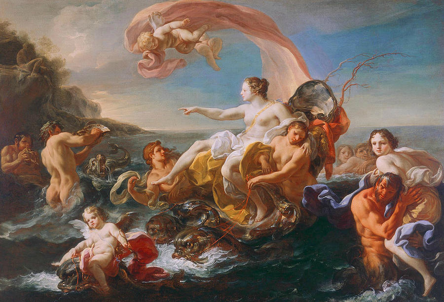 The Triumph Of Galatea Painting By Corrado Giaquinto - Rococo painting
