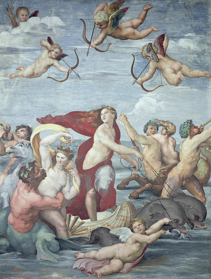 The Painting - The Triumph Of Galatea by Raphael