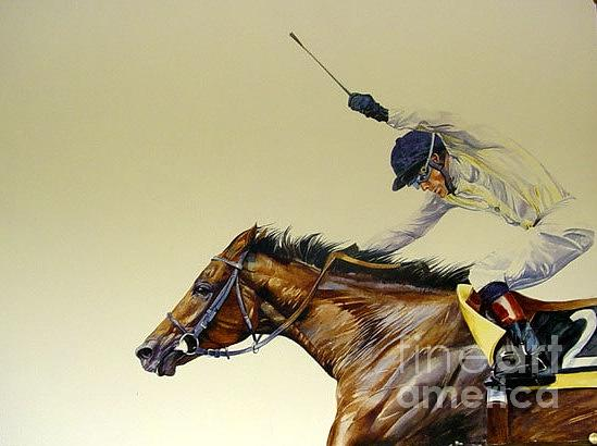 Polo Paintings Painting - the Triumphant Jockey by Sabrina Siga