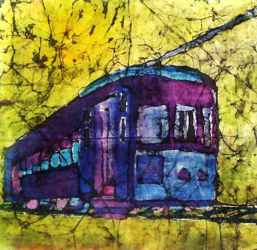 Train Tapestry - Textile - The Trolly Is Here by Rashidat Momoh
