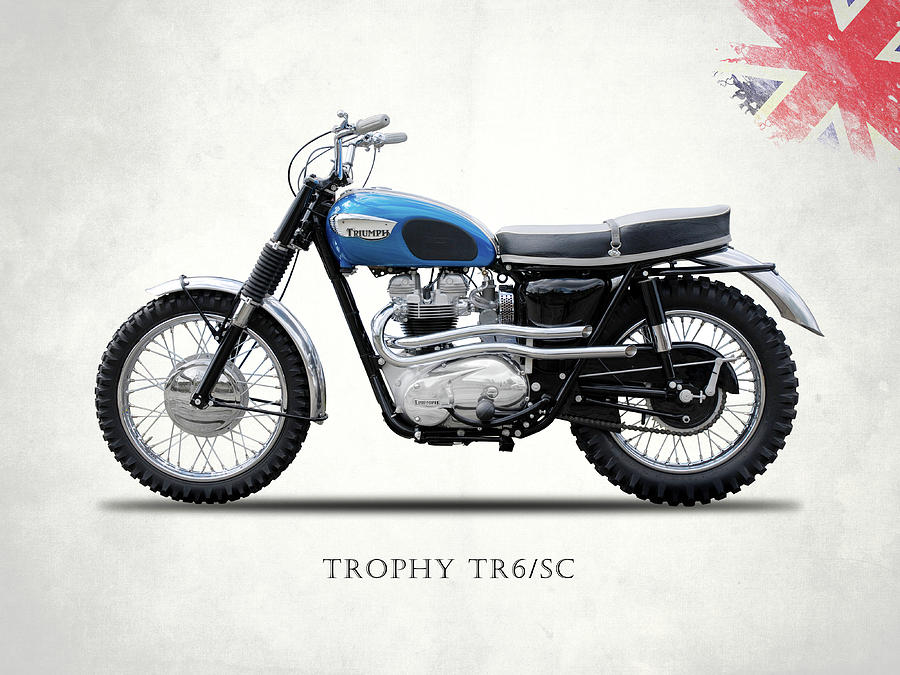 Triumph Tr6 Photograph - The Trophy Tr6 Sc Motorcycle by Mark Rogan
