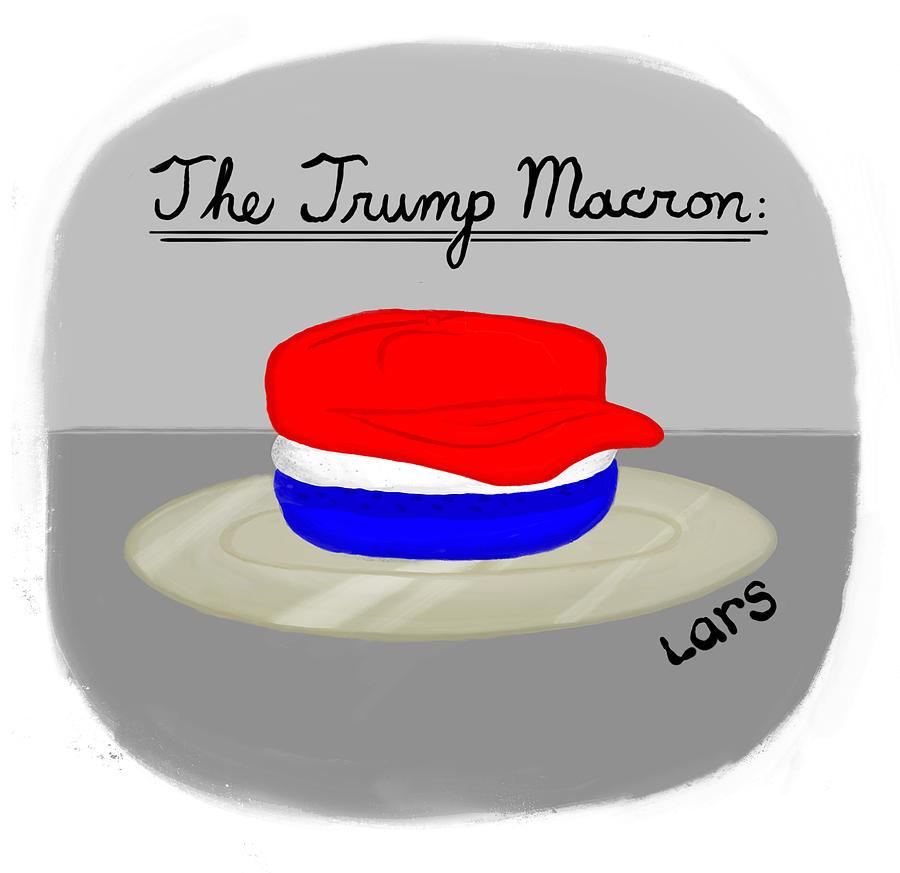 The Trump Macron Painting by Lars Kenseth
