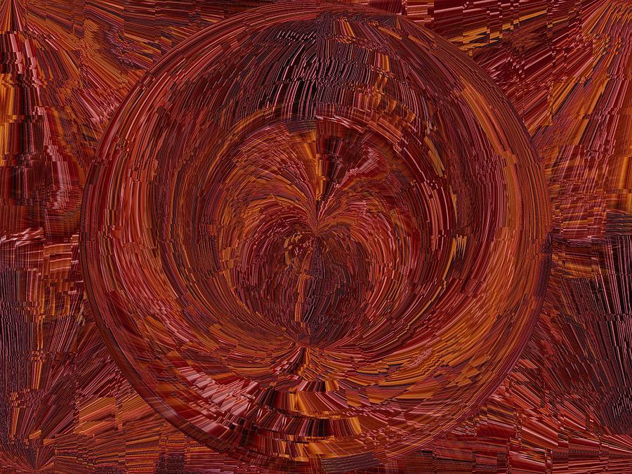 Tunnel Digital Art - The Tunnel Red by Tim Allen