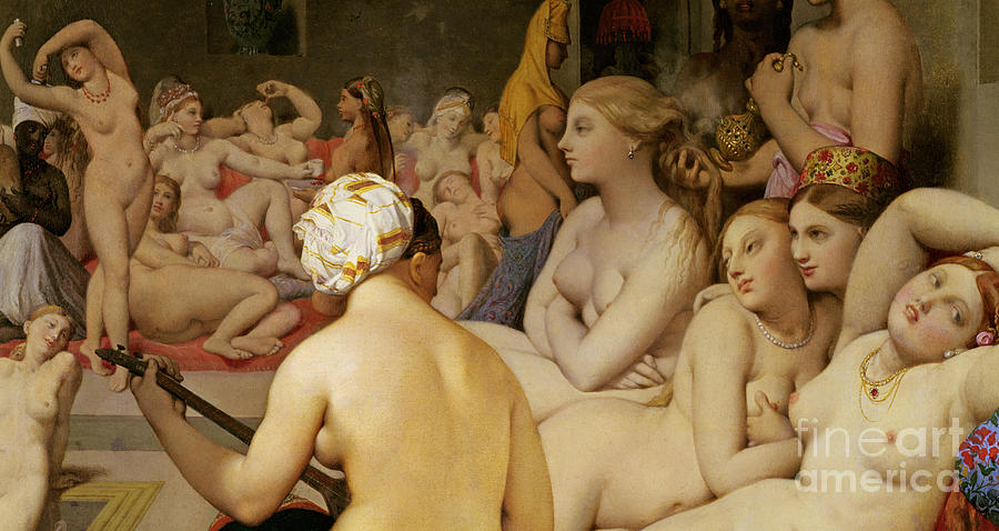 Nude Painting - The Turkish Bath by Ingres