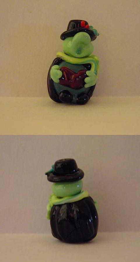 Turtle Sculpture - The Turtle Caroler by Cecilia Alvarez