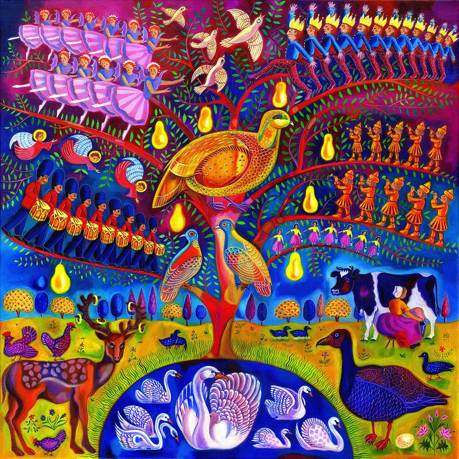 The Twelve Days Of Christmas Painting By Jane Tattersfield