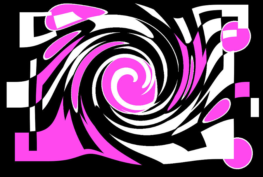 Digital Design Digital Art - The Twist In Color by Art Speakman