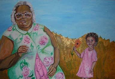 Family Painting - The Two Adells by Michelley QueenofQueens