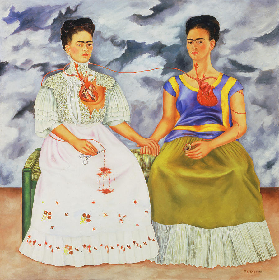 Frida Kahlo Painting -  The Two Fridas by Frida Kahlo