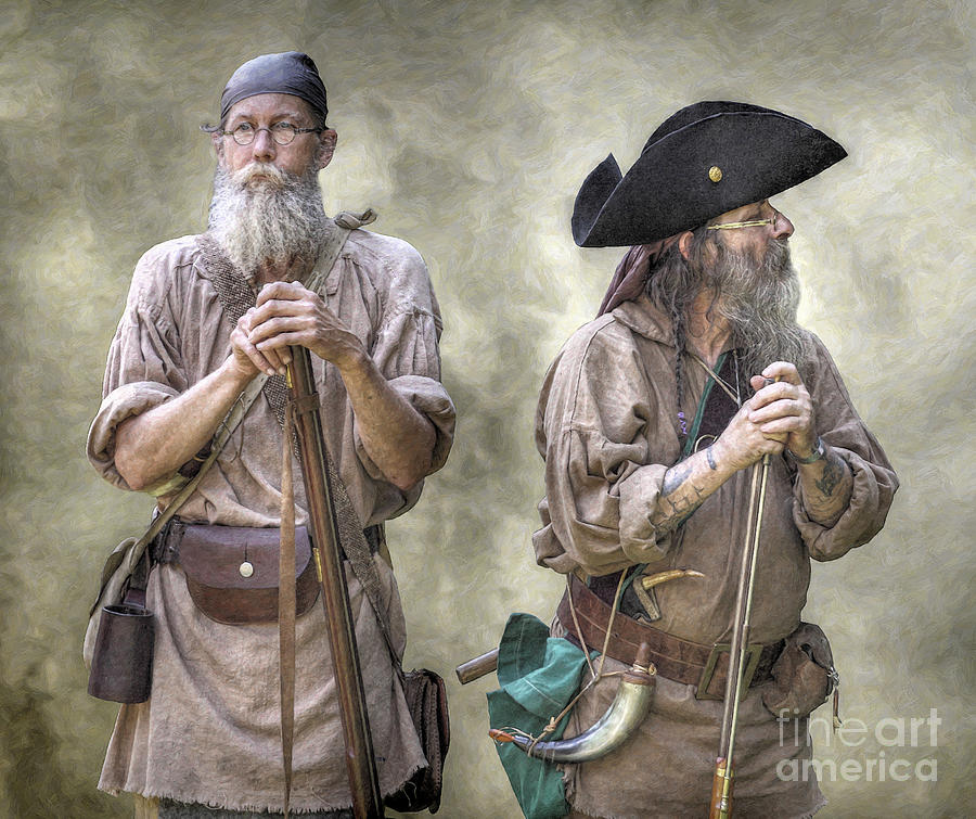 The two frontiersmen digital art by randy steele for Built for war shirt