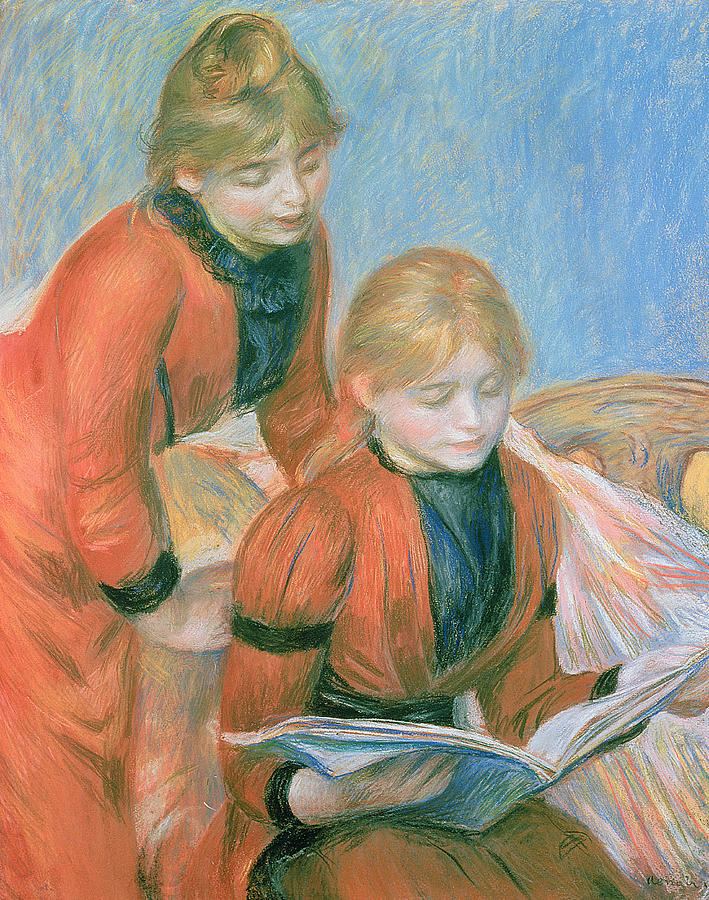 The Pastel - The Two Sisters by Pierre Auguste Renoir