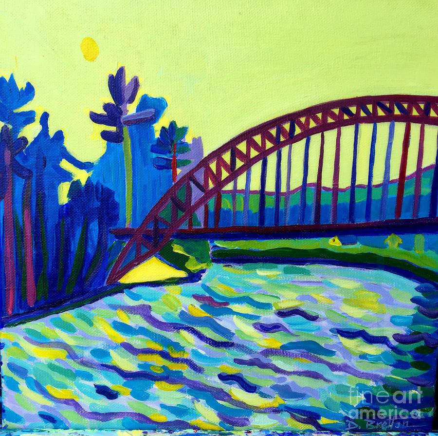 Water Painting - The Tyngsborough Bridge by Debra Bretton Robinson