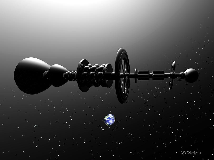 Science Fiction Digital Art - The United Earth Federation Starship Carl Sagan 1 by Walter Neal