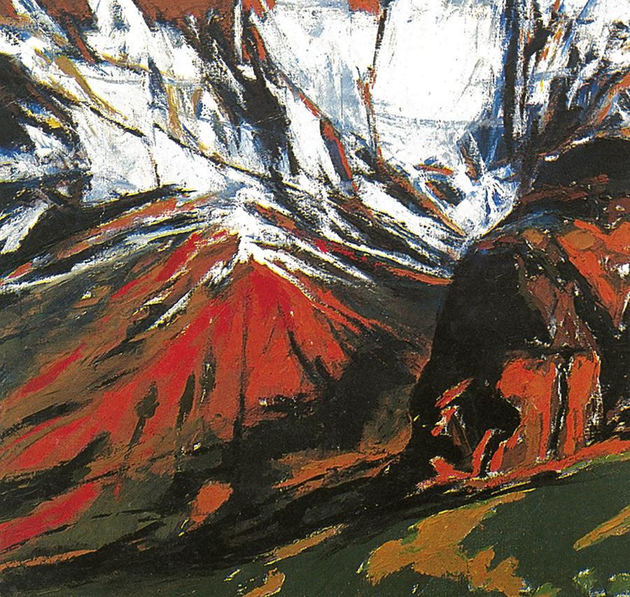 Landscape Painting - The Umovi Peak by Vladimir Vlahovic