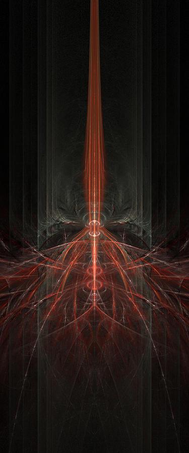 Dark Digital Art - The Unbeheld Answers by Lucas Simmons