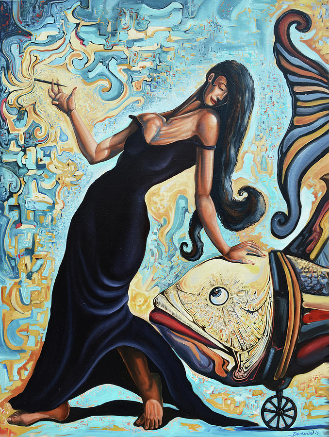 Abstract Painting - The unconditional agreement by Darwin Leon