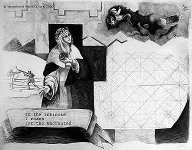 Navigation Chart Drawing - The Uncreated by Liliana Beatriz Arnillas