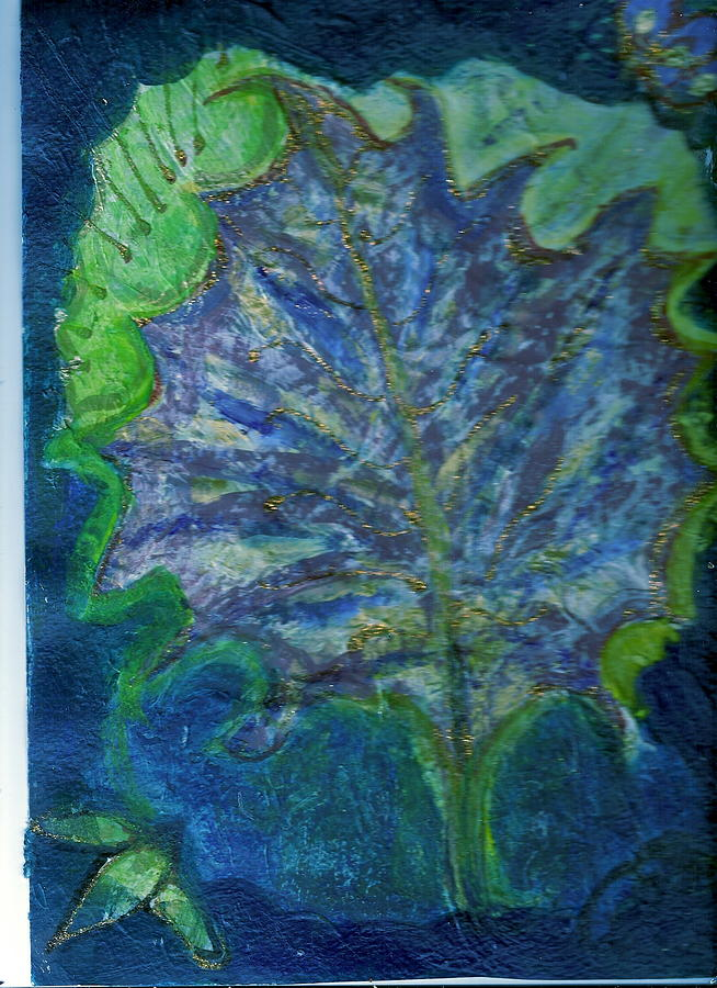 Green Painting - The Underside Of The Autumn Leaf by Anne-Elizabeth Whiteway
