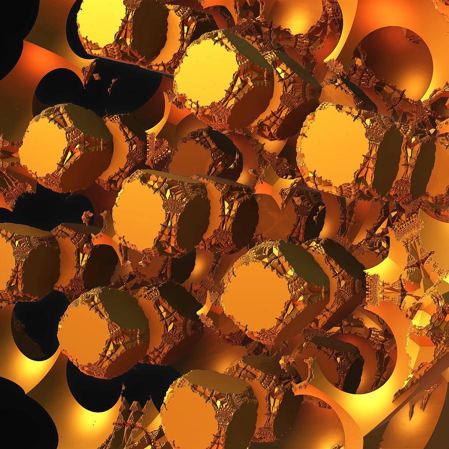 Mandelbulb Digital Art - The Undoing by Lyle Hatch