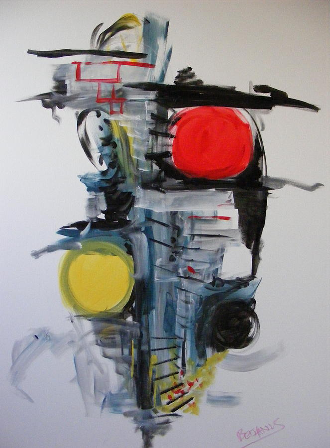 Abstract Painting - The Unfinished Dream by Peter Bethanis