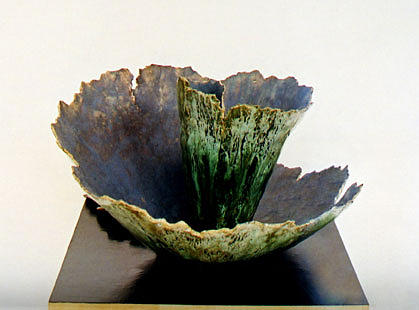 Ceramic Ceramic Art - The Unfolding by Jane T Gillett