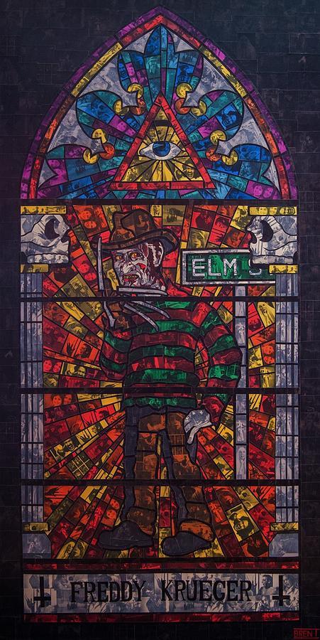 Freddy Krueger Painting - The Unholy Trinity Freddy Krueger by Brent Andrew Doty
