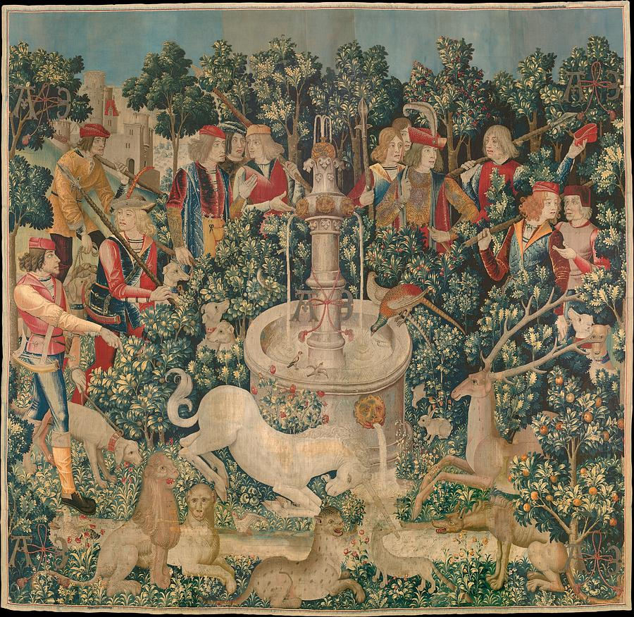 William Tapestry - Textile - The Unicorn Is Captured by Philip Ralley