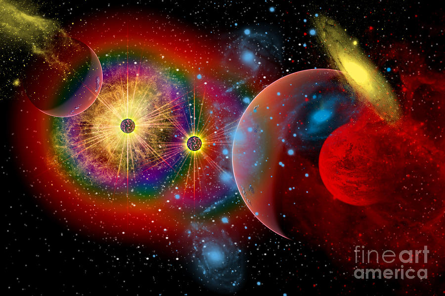 Concept Digital Art - The Universe In A Perpetual State by Mark Stevenson