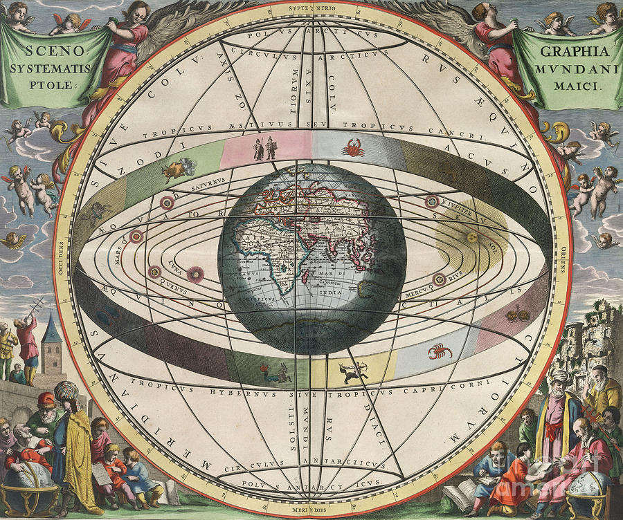 Science Photograph - The Universe Of Ptolemy Harmonia by Science Source