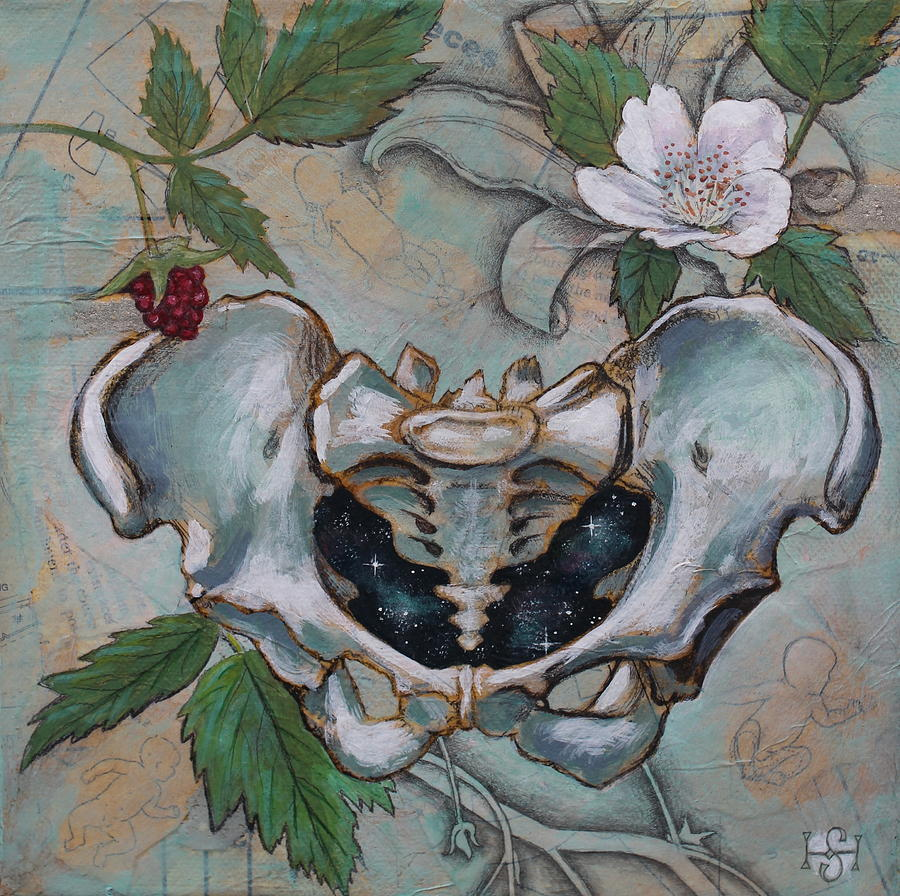 Female Pelvis Mixed Media - The Universe Within by Sheri Howe