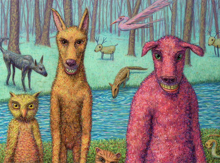 Animals Painting - The Untamed Return by James W Johnson