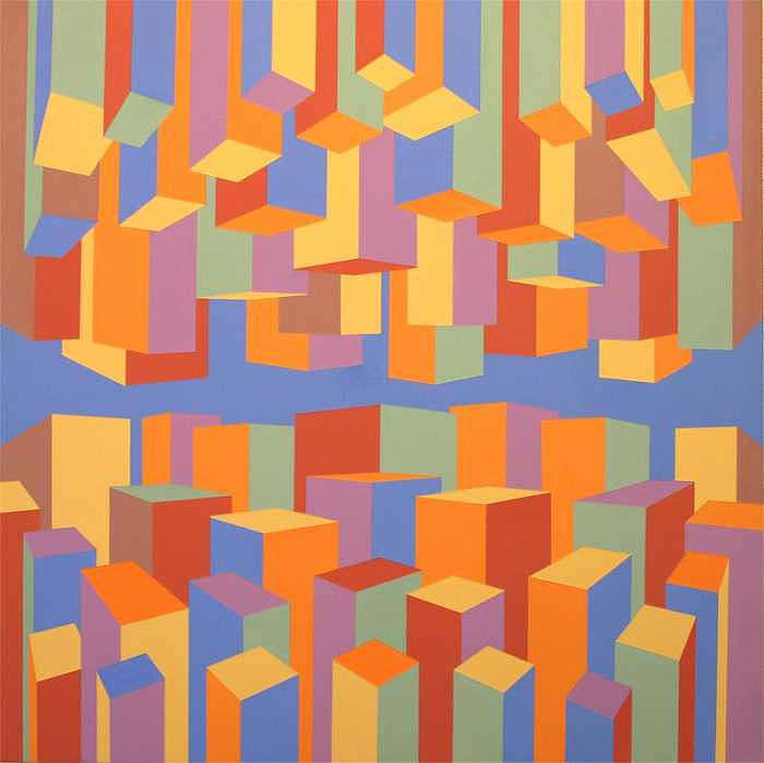 Abstract Painting - The Upside of Down by Marston A Jaquis