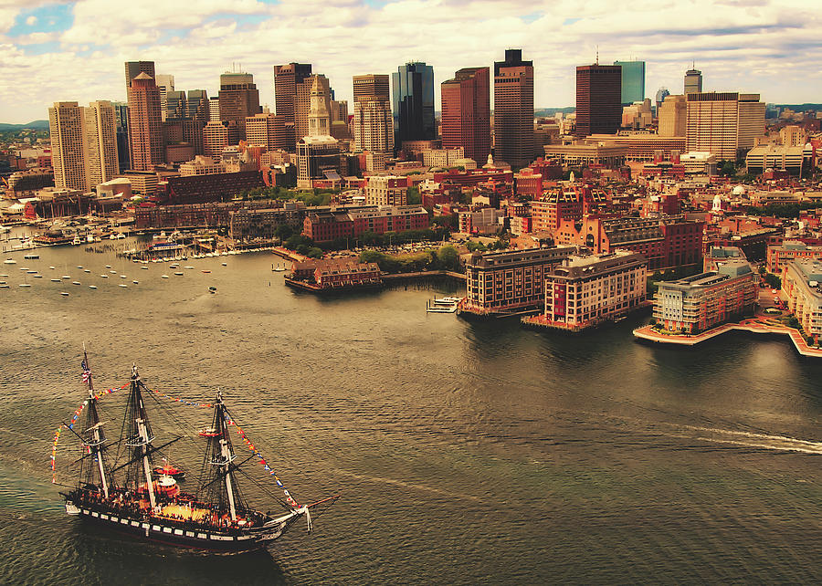 Uss Constitution Photograph - The Uss Constitution In Boston Harbor by U S Navy