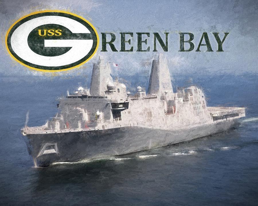 Uss Green Bay Digital Art - The Uss Green Bay by JC Findley