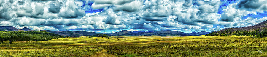 Blue Photograph - The Valles Caldera by Gestalt Imagery