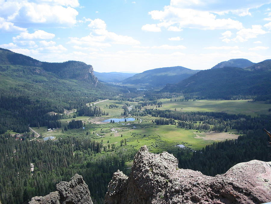 Rocky Mountains Photograph - The Valley Below by CGHepburn Scenic Photos