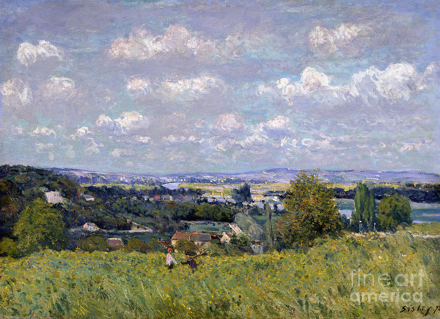 Impressionist Painting - The Valley Of The Seine At Saint Cloud by Alfred Sisley